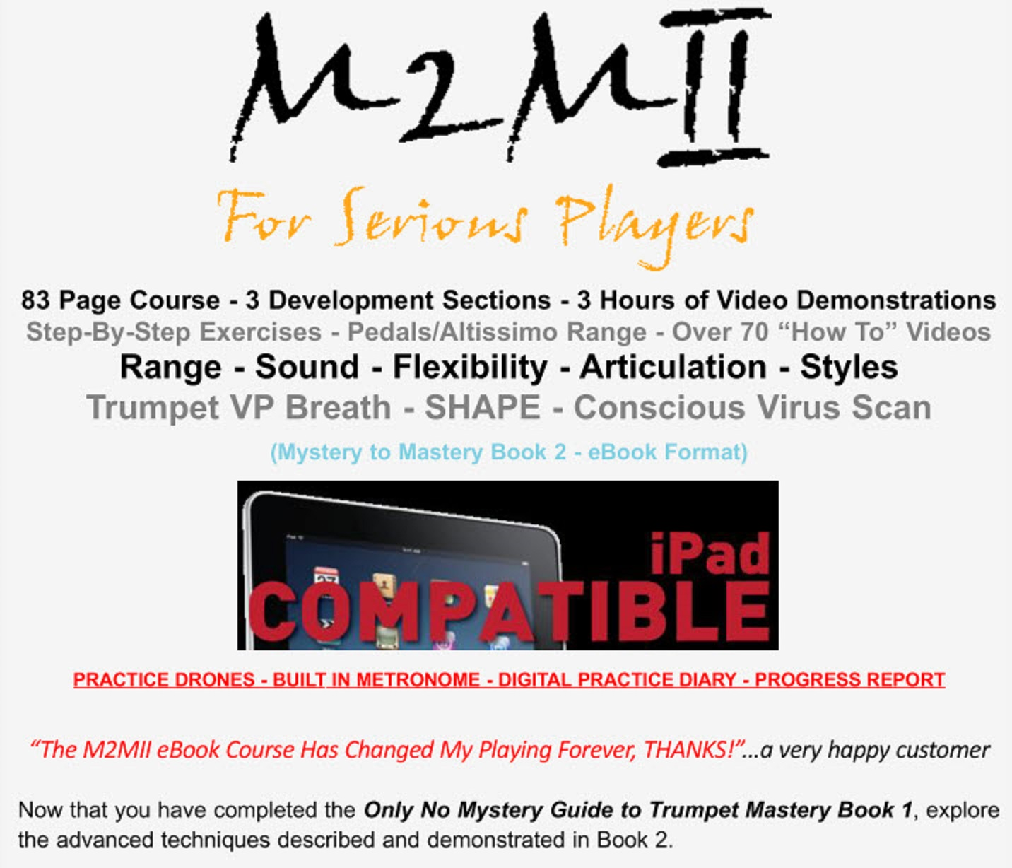 M2mii for serious players mystery to mastery online trumpet lessons welcome to a whole new world of trumpet education fandeluxe Choice Image